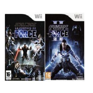 Jeu Wii Star Wars le pouvoir de la force 1 et 2