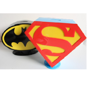 2 Tirelire Superman+Batman