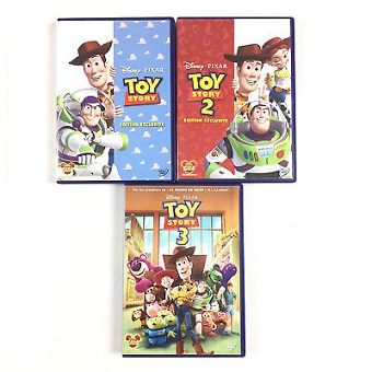 TOY STORY 1, 2 et 3 DVD Disney/pixar