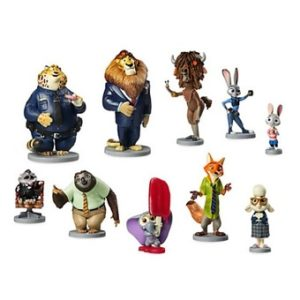 Zootopia de Disney Ensemble de 10 figurines en PVC exclusif