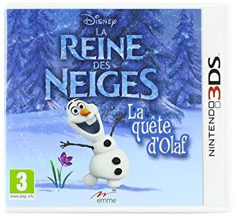 Jeu La Reine des Neiges La quete d'olaf 3DS (Neuf)