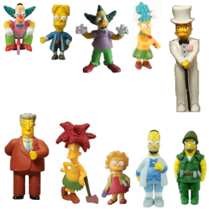 10 Figurines Simpson lot