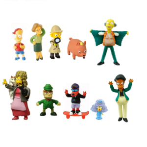 Figurines Simpson Lot de 10