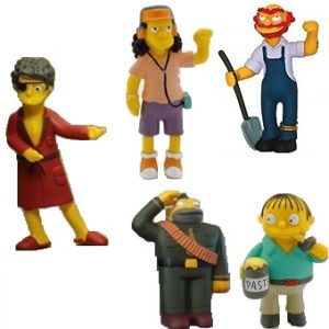 5 Figurines Simpson