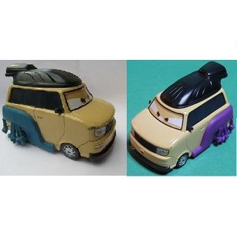Pinion Tanaka + Kingpin Nobunaga sumo deluxe 2 voitures cars Disney/Pixar