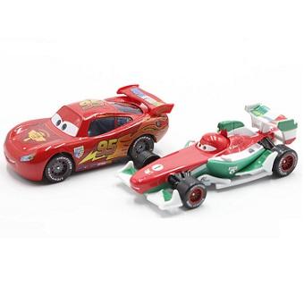 Flash McQueen+Francesco Bernoulli voiture Cars pour circuit électrique Disney/Pixar