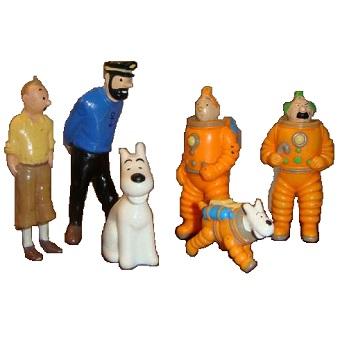 6 Figurines Tintin Hergé 1994 LU