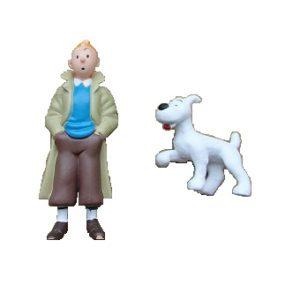 2 fig Tintin + Milou Hergé ML
