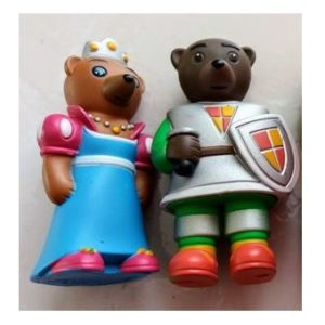 2 Petit Ours Brun chevalier+princesse Lot fig Bayard