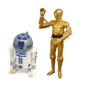 R2D2 et C3PO 2004 et 2007 2 fig Star Wars LFL
