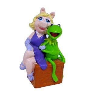 KERMIT et Peggy la cochonne (Miss Piggy) The MUPPET SHOW figurine.
