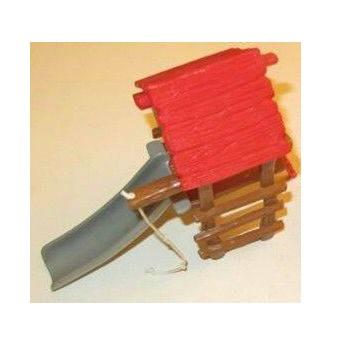 Accessoire schtroumpf structure de jeu Toboggan avec corde+Echelle 1999. Peyo Schleich