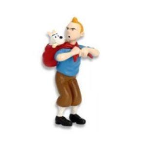 Tintin avec Milou dans un baluchon Hergé/ML