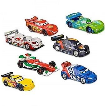 Lot 7 voitures Cars 2 World Grand Prix Disney/Pixar