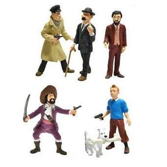 Tintin 6 petites figurines Paramount Picture Plastoy 2011