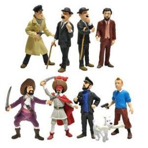 Tintin 9 petites figurines Paramount Picture Plastoy 2011