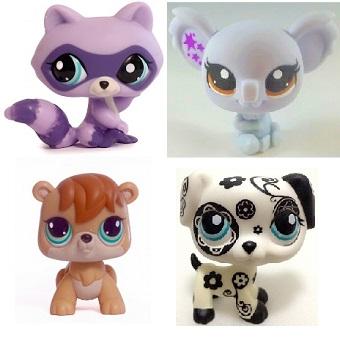 lot de 4 PetShop (LPS) Hasbro.