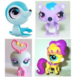 Pet Shop 4 figurines (LPS) Hasbro.