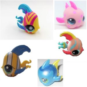 5 Poissons Pet Shop (LPS) Hasbro
