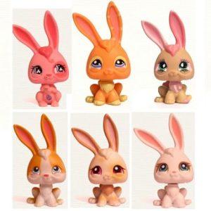 6 Lapins Pet Shop (LPS) Hasbro