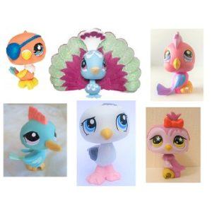 6 oiseaux Pet Shop (LPS) Hasbro