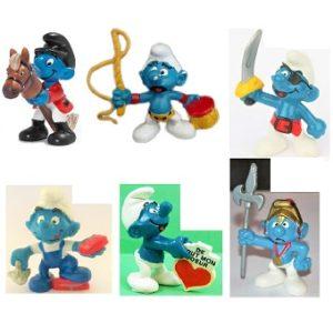 Lot 6 schtroumpfs figurines Peyo Schleich.