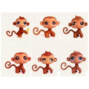 6 singes Pet Shop (LPS) Hasbro