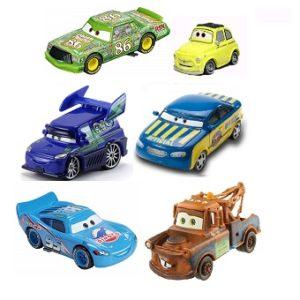6 voitures Cars lot avec les yeux mobiles Disney/Pixar