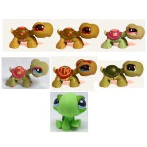 7 tortues Pet Shop (LPS) Hasbro.