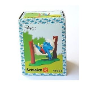 schtroumpf boite 40226 neuf 1984 Peyo Schleich Made in Germany.