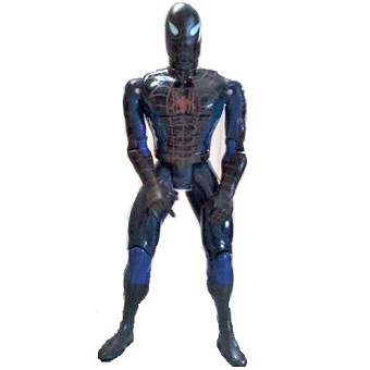 Spiderman 1994 Bleu et noir avec ventouse aux mains Marvel Toy Biz Inc 27 cm