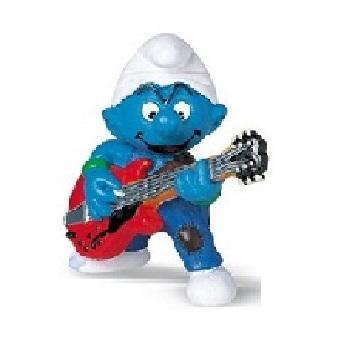 schtroumpf guitariste 1997 Peyo Schleich.
