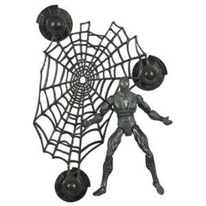 Spiderman Noir 2006 avec toile d'araignée (avec ventouse) Marvel Hasbro 13,5 cm