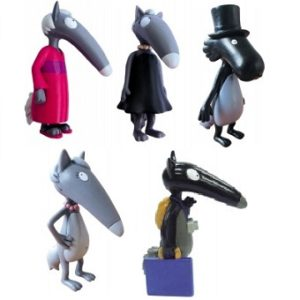 Loup 5 figurines