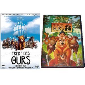 Frère des ours 1 et 2 DVD Disney