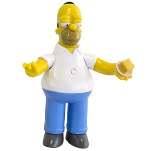 Homer Simpson Figurine Articulé The Simpsons Parlante en français Collection 15 cm