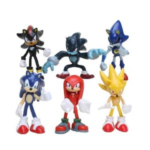Sonic The Hedgehog Lot de 6 Figurines