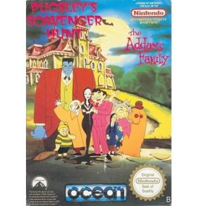 PUGSLEY'S SCAVENGER HUNT The Addams Family Jeu Nes Original