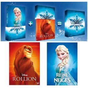Roy Lion + Reine des Neiges 2 DVD Disney dans coffret cadeau Noël