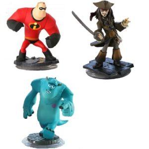 Disney Infinity 3 figurines Jacques Sullivan+ jack sparrow+M. Indestructible