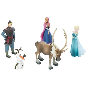 figurines Reine des Neiges Lot de 5 par bulllyland peint a la main.