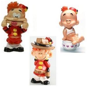 3 figurines le petit spirou Dupuis Plastoy 1997