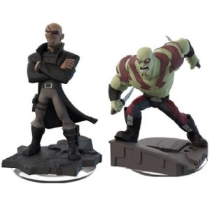 Nick fury+Drax Disney Infinity 2.0 Marvel lot de 2 figurines.
