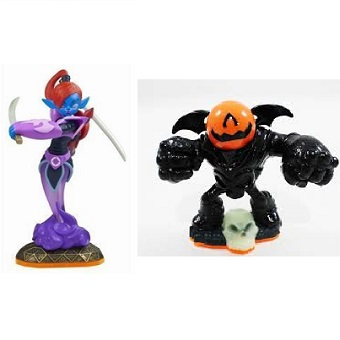 Ninjini et Eye-Brawl Halloween 2 Skylanders Giant.