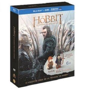 Le Hobbit La Bataille des cinq Armées Coffret Blu-Ray+DVD+2 figurines Lego en exclusivité neuf sous blister
