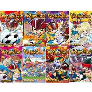 8 Mangas INAZUMA ELEVEN 1,2,4 a 7 , 10 et XTRA.