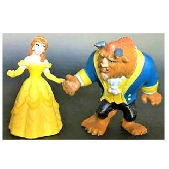 Figurines La Belle et la Bête Disney Bullyland made in GERMANY.