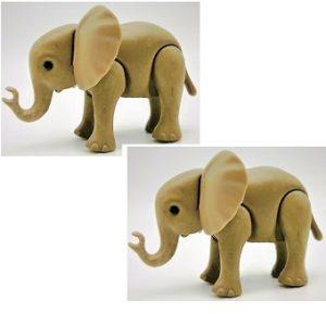 2 Bébés Éléphants PLAYMOBIL Animaux ELEPHANTEAU-Zoo-Savane-AFRIQUE.