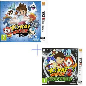 YO-KAI Watch + YO-KAI Watch 2 Esprits Farceurs 2 Jeux 3DS
