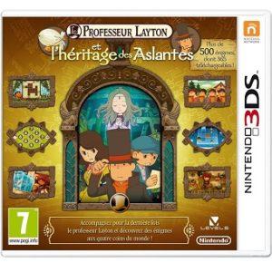Professeur Layton et l'héritage des Aslantes Jeu 3DS.